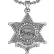 Personalized Los Angeles County Sheriff Badge w/ Name and Rank