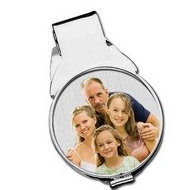 Sterling Silver Photo Engraved  (Half Dollar Size) Money Clip