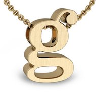 Initial Pendant  g  w  16  Rolo Chain