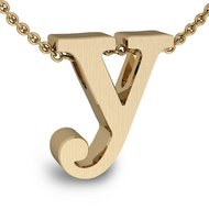 Initial Pendant  y  w  16  Rolo Chain