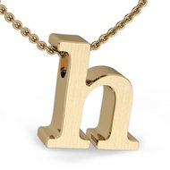Initial Pendant  h  w  16  Rolo Chain