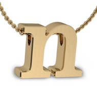 Initial Pendant  n  w  16  Rolo Chain