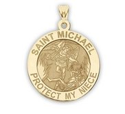 Saint Michael   Protect My Niece   Religious Medal   EXCLUSIVE