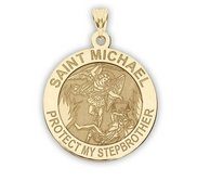 Saint Michael   Protect My StepBrother   Religious Medal   EXCLUSIVE