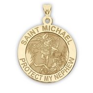 Saint Michael   Protect My Nephew   Religious Medal   EXCLUSIVE