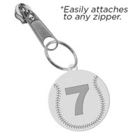 Exclusive Zipper Pull Baseball Charm w  Custom Numbers