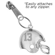 Exclusive Zipper Pull Football Helmet Charm w  Custom Numbers