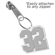 Exclusive Zipper Pull Number Charm w  Custom Numbers