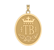 Thorobred Horse Breed Oval Medal