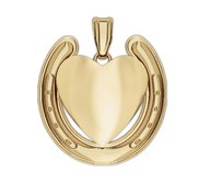 Engravable Horseshoe Heart Charm or Medal