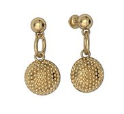Golf Ball Dangle Post Earrings