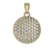 Engravable Diamond Studded Golf Ball Disc Medal