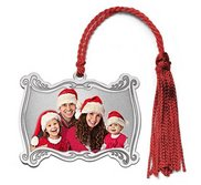 Sterling Silver Personalized Photo Christmas Plaque Ornament