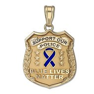 """Support Our Police """"Blue Lives Matter"""" Charity Badge"""