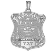 Personalized Boston Police Badge w  Your Number   Rank