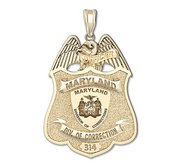 Personalized Maryland Corrections Officer Police Badge w  Badge Number