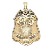 Personalized Montgomery County  Maryland Police Badge w  Your Rank  Name and Badge Number