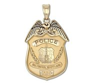 Personalized Baltimore  Maryland Police Badge w  Your Rank and Badge Number