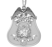 Personalized  Maryland State Police Badge w  Your Rank and Badge Number
