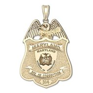 Personalized Maryland Corrections Officer Police Badge w/ Badge Number