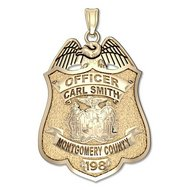 Personalized Montgomery County, Maryland Police Badge w/ Your Rank, Name and Badge Number