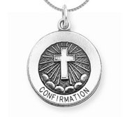 Sterling Silver Confirmation Medal w  Chain Included