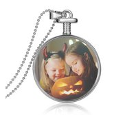 Sterling Silver Glass Dome Locket w  Photo Engraving