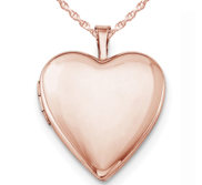Sterling Silver Rose Gold Plated Heart Locket