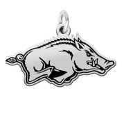 Arkansas Razorbacks Sterling Silver Logo Charm