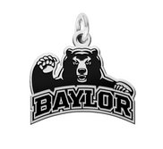 Baylor Bears Sterling Silver Logo Charm