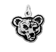 Cornell Big Red Silver Logo Cut Out Charm