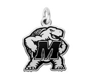 Maryland Terrapins Silver Logo Cut Out Charm