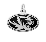 Missouri Tigers Silver Logo Cut Out Charm