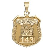 Police Wife  Police Badge w  Officer s Name and Number
