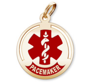 Round Medical  Pacemaker  Pendant or Charm