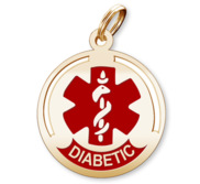 Round Medical  Diabetic  Charm