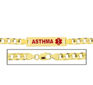 Men s Curb Link  Asthma  Medical ID Bracelet