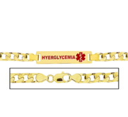 Men s Curb Link  Hyperglycemia  Medical ID Bracelet