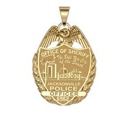 Personalized Jacksonville  Florida Police Badge w  Your Rank and Number