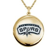 14k Yellow Gold Round San Antonio Spurs Picture Locket