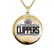 14k Yellow Gold Round Los Angeles Clippers Picture Locket
