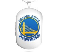 Sterling Silver Golden State Warriors Dog Tag Locket