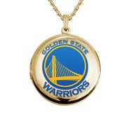 14k Yellow Gold Round Golden State Warriors Picture Locket