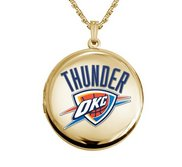14k Yellow Gold Round Oklahoma City Thunders Picture Locket