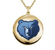 14k Yellow Gold Round Memphis Grizzlies Picture Locket