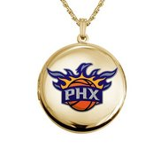14k Yellow Gold Round Phoenix Suns Picture Locket