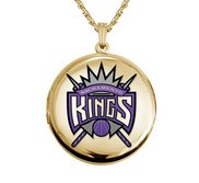 14k Yellow Gold Round Sacramento Kings Picture Locket