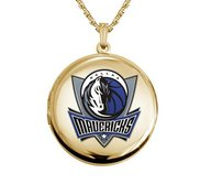 14k Yellow Gold Round Dallas Mavericks Picture Locket