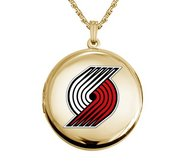 14k Yellow Gold Round Portland Trail Blazers Picture Locket