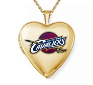 Yellow Gold Filled Cleveland Cavaliers Heart Locket